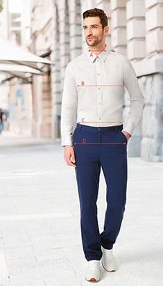 Основные мерки для подбора мужской одежды