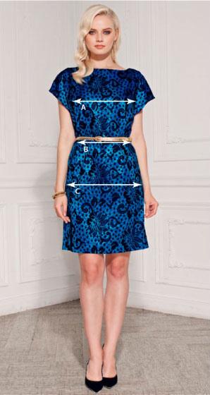 Мерки платья на модели